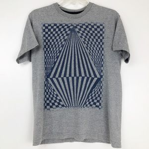 Volcom Mens Large Gray T Shirt Graphic Tee Logo
